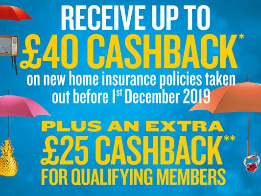 Up to £65 cashback