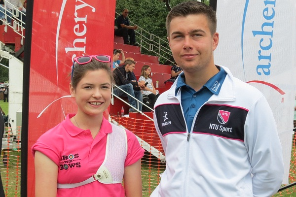 Lizzie and Rob at the Nottingham Building Society Archery GB Finals